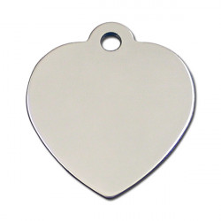 Grand coeur chrome - 3.5x3.5cm