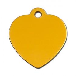 Grand coeur doré - 3.5x3.5cm