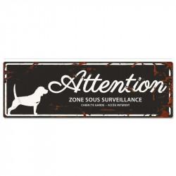 """Plaque """"Attention"""" Beagle -..."""
