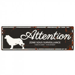"Plaque ""Attention"" Border..."