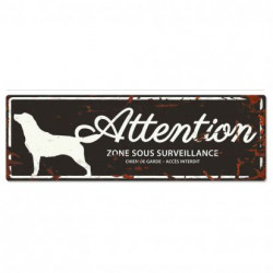 "Plaque ""Attention"" Golden..."