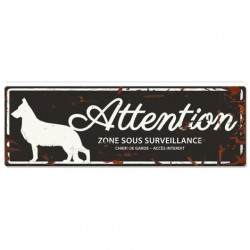 "Plaque ""Attention"" Berger..."