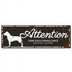 "Plaque ""Attention"" American..."