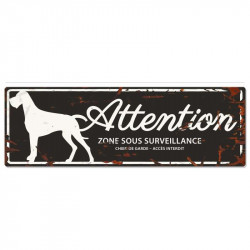 "Plaque ""Attention"" Dogue..."
