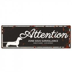 """Plaque """"Attention"""" Teckel -..."""