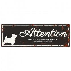 """Plaque """"Attention"""" Westie -..."""