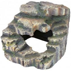Rocher d'angle avec grotte...